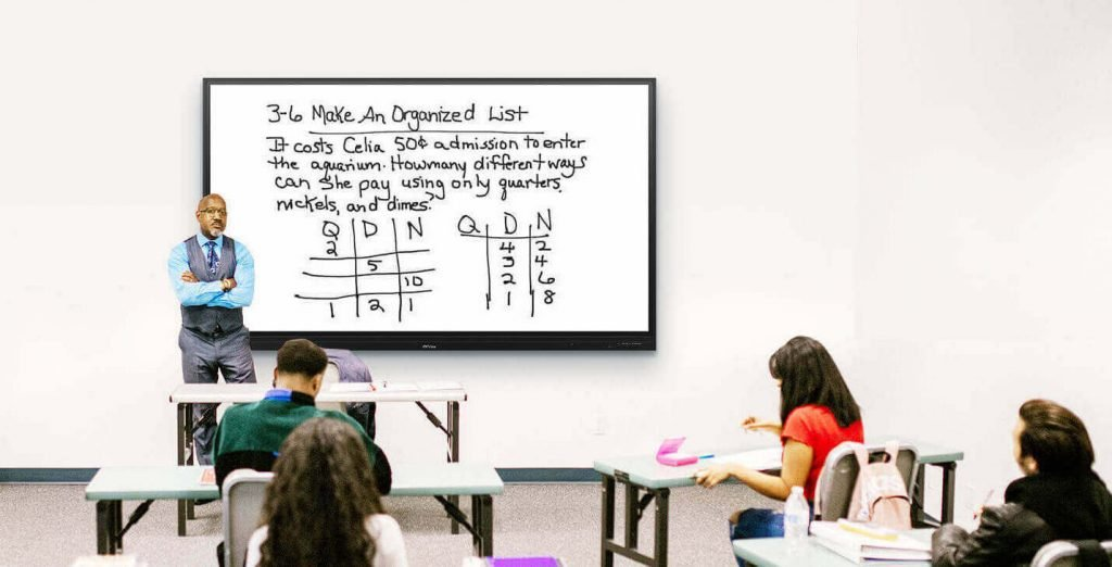 interactive touch screens education